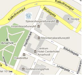 Central Bank of Iceland HQ Location Map