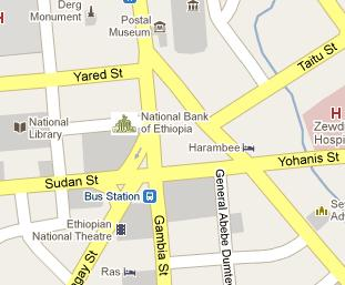 National Bank of Ethiopia HQ Location Map