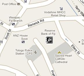 Reserve Bank of Fiji HQ Location Map